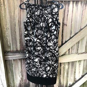 🦋 3/$15 AB studio black&white sheath dress